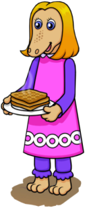 Maple with plate of waffles