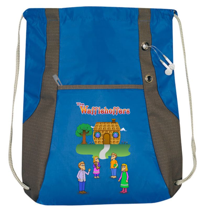 The Wafflehoffer drawstring tote bag image from manufacturer