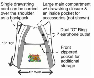 Drawstring tote bag dimesions for website