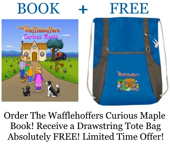 Free tote bag with book