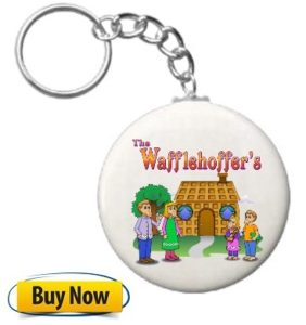 The Wafflehoffer Keyring chain with buy button