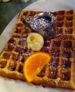 Granola waffle